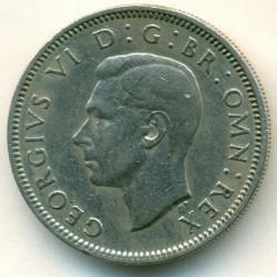 錢幣 > 1先令, 1949-1951 - 英國  (English crest, lion standing atop the crown) - obverse