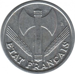 Монета > 1франк, 1942-1944 - Франція  - obverse