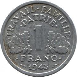 Монета > 1франк, 1942-1944 - Франція  - reverse