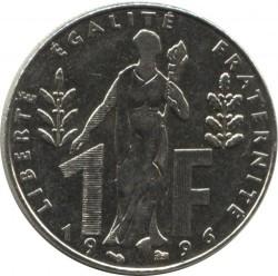 Moneda > 1franc, 1996 - França  (100è aniversari - Naixement de Jacques Rueff) - reverse