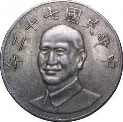 Монета > 10долларов, 1981-2010 - Тайвань  - obverse