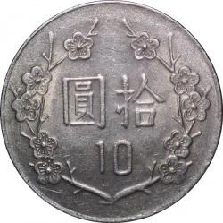 Монета > 10долларов, 1981-2010 - Тайвань  - reverse
