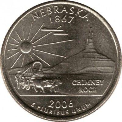 2006-d state quarter uncirculated bu nebraska ne