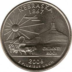 Coin > ¼dollar, 2006 - USA  (Nebraska State Quarter) - reverse