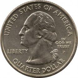 سکه > ¼دلار, 2006 - ایالات متحده آمریکا  (North Dakota State Quarter) - obverse