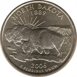 سکه > ¼دلار, 2006 - ایالات متحده آمریکا  (North Dakota State Quarter) - reverse