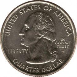 Монета > ¼долара, 2007 - США  (Квотер штату Монтана) - obverse