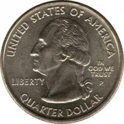 سکه > ¼دلار, 2007 - ایالات متحده آمریکا  (Wyoming State Quarter) - obverse
