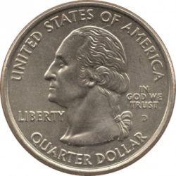 سکه > ¼دلار, 2008 - ایالات متحده آمریکا  (Oklahoma State Quarter) - obverse