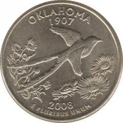سکه > ¼دلار, 2008 - ایالات متحده آمریکا  (Oklahoma State Quarter) - reverse