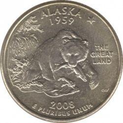 Кованица > ¼долара, 2008 - Сједињене Америчке Државе  (Alaska State Quarter) - reverse