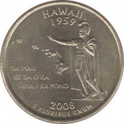 Кованица > ¼долара, 2008 - Сједињене Америчке Државе  (Hawaii State Quarter) - reverse