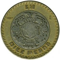 Coin > 10pesos, 1997 - Mexico  - reverse