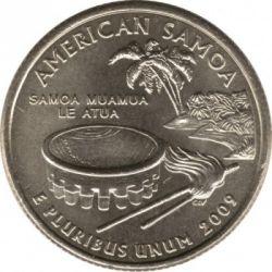 سکه > ¼دلار, 2009 - ایالات متحده آمریکا  (American Samoa Quarter) - reverse