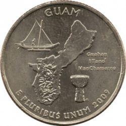 سکه > ¼دلار, 2009 - ایالات متحده آمریکا  (Guam Quarter) - reverse