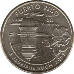 Moneda > ¼dollar, 2009 - Estats Units  (Quarter del Estat de Puerto Rico) - reverse