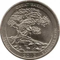 Coin > ¼dollar, 2013 - USA  (Great Basin National Park Quarter) - reverse