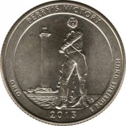 Coin > ¼dollar, 2013 - USA  (Perry's Victory and International Peace Memorial Quarter) - reverse