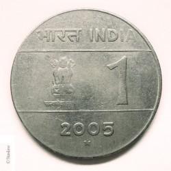 Mynt > 1rupi, 2005-2006 - India  - obverse