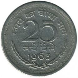 Mynt > 25nyepaise, 1961-1963 - India  - reverse