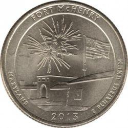 Moneda > ¼dólar, 2013 - Estados Unidos  (Cuarto de dólar del Monumento Nacional Fort McHenry) - reverse