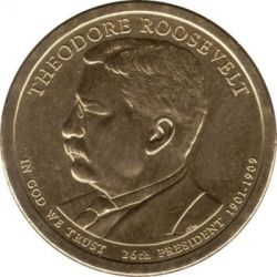Moneta > 1 dollaro, 2013 - USA  (President of the USA - Theodore Roosevelt (1901–1909)) - obverse