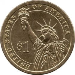 Coin > 1 dollar, 2013 - USA  (President of the USA - Theodore Roosevelt (1901–1909)) - reverse