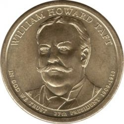 Moneda > 1 dólar, 2013 - Estados Unidos  (Presidente de los EE. UU. - William Howard Taft (1909–1913)) - obverse