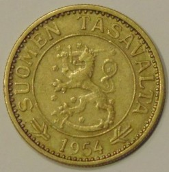Münze > 10Mark, 1954 - Finnland  - reverse