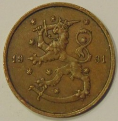 Münze > 10Penny, 1931 - Finnland  - reverse