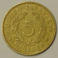 Münze > 5Mark, 1937 - Finnland  - obverse