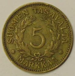 Münze > 5Mark, 1948 - Finnland  - reverse