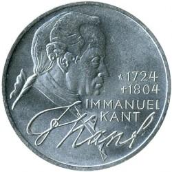 Moneda > 5marcos, 1974 - Alemania  (250º Aniversario - Nacimiento de Immanuel Kant) - reverse