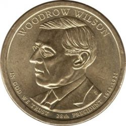 Coin > 1 dollar, 2013 - USA  (President of the USA - Woodrow Wilson (1913–1921)) - obverse