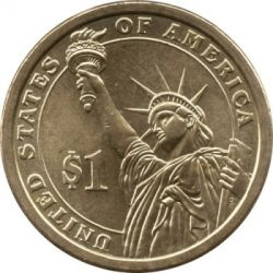 Coin > 1 dollar, 2013 - USA  (President of the USA - Woodrow Wilson (1913–1921)) - reverse