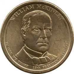 Coin > 1 dollar, 2013 - USA  (President of the USA - William McKinley (1897–1901)) - obverse