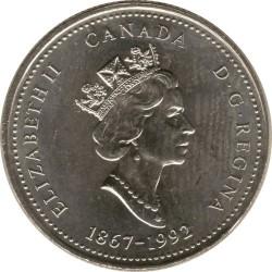 Coin > 25cents, 1992 - Canada  (Prince Edward Island) - obverse