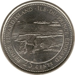 Coin > 25 cents, 1992 - Canada  (Prince Edward Island) - reverse