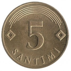Coin > 5 santimi, 1992-2009 - Latvia  - obverse