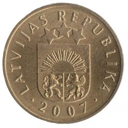 Coin > 5 santimi, 1992-2009 - Latvia  - reverse