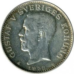 Monedă > 1coroană, 1910-1942 - Suedia  - obverse