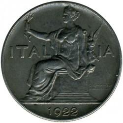 Moneta > 1lira, 1922-1928 - Italija  - obverse