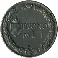 Moneta > 1lira, 1922-1928 - Italija  - reverse