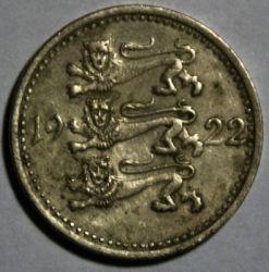 Munt > 3marka, 1922 - Estonië  - reverse