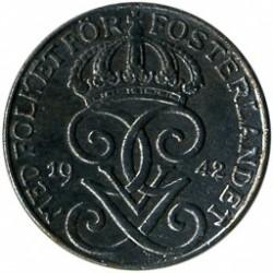 錢幣 > 1歐爾, 1942-1950 - 瑞典  - obverse