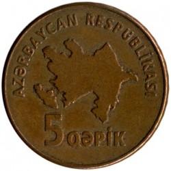 Moneda > 5qəpik, 2006 - Azerbaiyán  - obverse