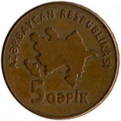 Moneda > 5qəpik, 2006 - Azerbaiyán  - reverse