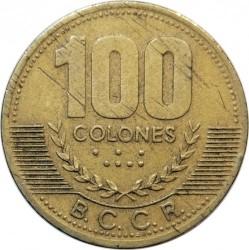 Moneda > 100colones, 1997-1998 - Costa Rica  - reverse