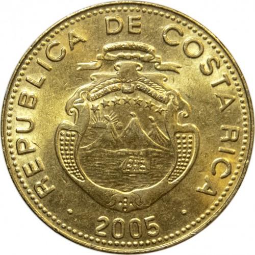 Coin 25 Colones 2001 2005 Costa Rica Obverse