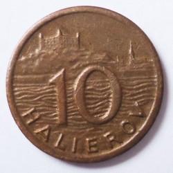 Minca > 10halierov, 1939-1942 - Slovensko  - reverse